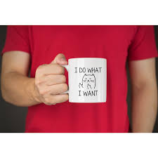 amazon com i do what i want funny coffee mug cat middle finger 11