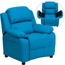 flash furniture deluxe heavily padded contemporary turquoise vinyl