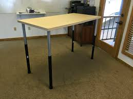 Ikea Work Table by Daniel At Work Cheaper And Easier Ikea Based Standing Desk