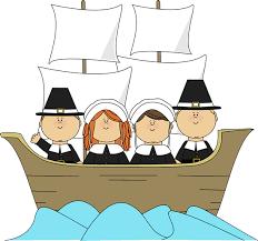 free children thanksgiving clip pilgrims on the mayflower