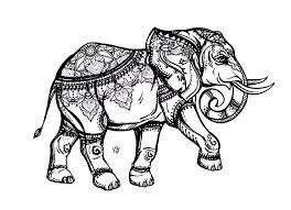Elephant elegant  Eléphants  Coloriages difficiles pour adultes