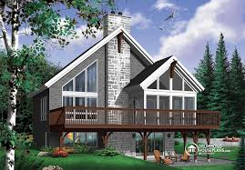 chalet style house plans canadian cottage house plans large small lake cabin with basement