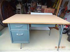 Metal Desk Vintage Vintage Metal Desk Ebay