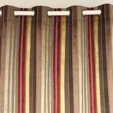 Burgundy Velvet Curtains Vezo Home Multi Burgundy Stripes Velvet Window Treatment Curtains