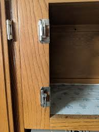kitchen cabinet door hinge came cabinet doors keep falling of our replacement hinges i