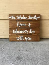 Personalized Wood Signs Home Decor Custom Wood Sign Home Sign Personalized Wood Sign Home Decor