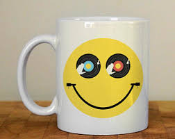 Smiley Face Vase Christmas Mug Let It Snow Mug Seasonal Ceramic Mug