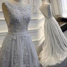 light gray long dress gray long prom dress high quality prom dress prom dress 2017 lace