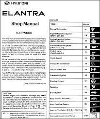 2006 hyundai elantra repair manual 2005 hyundai elantra repair shop manual factory reprint