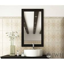 amazon com jwh living bathroom mirror with solid wood frame home