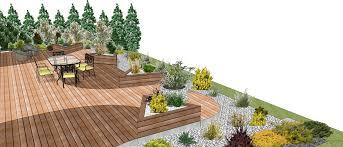 modele de jardin moderne conception paysagere arras exterieur jardin terrasse en bois lille