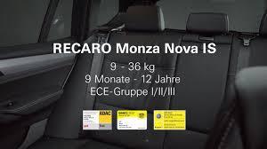 si e auto recaro monza recaro monza is so bauen sie den kindersitz richtig ein
