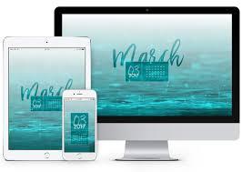 free march 2018 calendar for desktop and iphone march 2017 desktop calendar wallpaper paper leaf