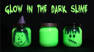 glow in the dark halloween party ideas how to make glow in the dark slime youtube