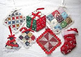 8 country quilt ornaments patchwork tree