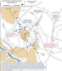 The Thirteen Colonies Map Map Of The Battle Of Germantown October 4 1777