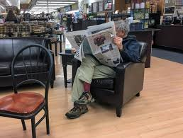 reading table and chair free images desk man table cafe chair reading newspaper