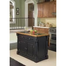 monarch black and distressed oak island granite top homestyles