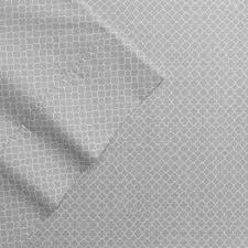 percale sheet set amazon com the big one percale sheet set full gray trellis