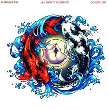 yin yang tribal koi fish design tattooshunter com