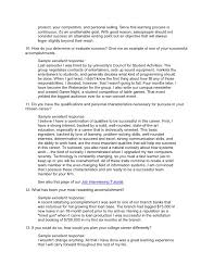 Sample Of One Page Resume by Job Interview Question Database With Answers