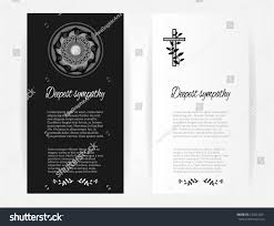Burial Invitation Card Set Collection Group Funeral Template Cards Stock Vector 572014021