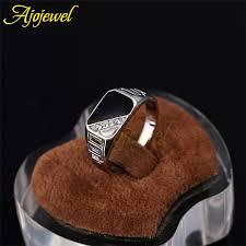 rings for men in pakistan ajojewel 7 12 quality jewelry fashion black enamel men