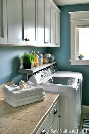 home tour laundry room saw nail and paint