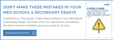 secondary application tips weill cornell medical college
