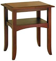 Wood Round End Table Amazon Com Winsome Wood Round End Table With Drawer And Shelf