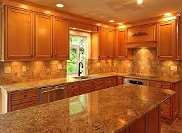 Oak Cabinet Kitchens Nice Granite Countertops With Light Brown Cabinets Part 1