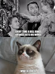 Bah Humbug Meme - every time a bell rings grumpy cat know your meme