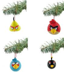 design angry birds tree ornaments