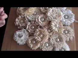 Fabric Shabby Chic by Shabbychic Loop Flower Tutorial Youtube