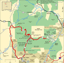americas byways jemez mountain trail map america s byways