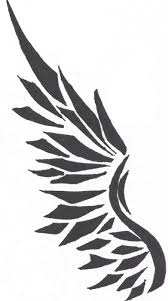 angel wing ankle tattoo design