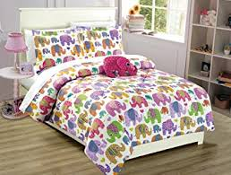 Green And Yellow Comforter Amazon Com Mk Collection 8pc Full Size Teens Kids Girls Elephant