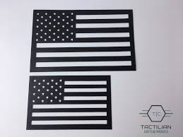 Car Flag Small American Flag Vehicle Magnet Matte Black Cut Out 3 75x6
