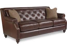 Leather Sofas Aberdeen La Z Boy Aberdeen Traditional Sofa With Tufted Seatback Novello