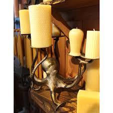 octopus lamp octopus pillar candle holder gold metal u2013 candlestock