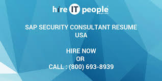Sap Security Consultant Resume Samples by Sap Security Consultant Resume Hire It People We Get It Done