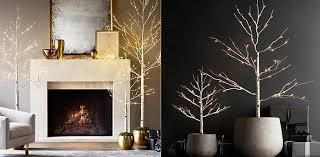 lighted birch trees lit trees rh