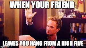High Five Meme - high five barney imgflip