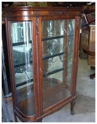 curved glass china cabinet glass china cabinet cabinet curved glass china cabinet for sale