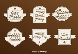 thanksgiving labels happy thanksgiving vector labels free vector stock