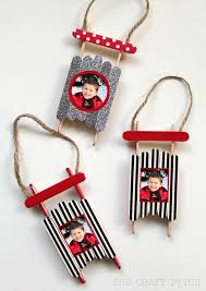 popsicle stick sled ornament with washi thecraftpatchblog