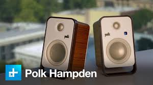 Bookshelf Audio Speakers Polk U0027s Hampden Are High End Bookshelf Speakers For Your Desktop