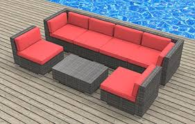 Red Patio Set by Urban Furnishing Oahu 7 Piece Wicker Rattan Patio Set Review