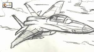 art for kids how to draw a jet fighter airplane easy step by