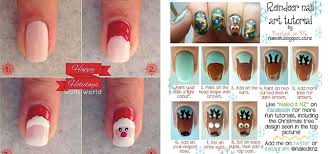 easy step by step christmas nail art tutorials for beginners